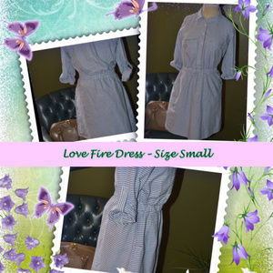 Love Fire - Stripped Blue and White Dress
